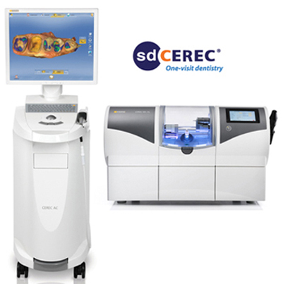 Photo of CEREC same-day crown and milling machine